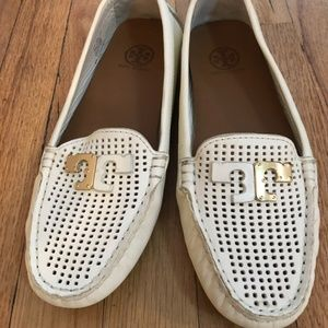 Tory Burch White Leather Loafer Women's Size 8M
